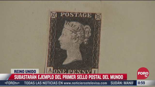 subastaran ejemplo del primer sello postal del mundo
