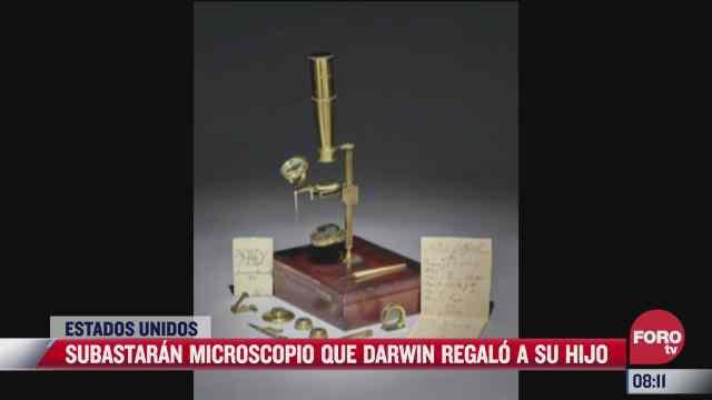 subastaran microscopio que charles darwin regalo a su hijo