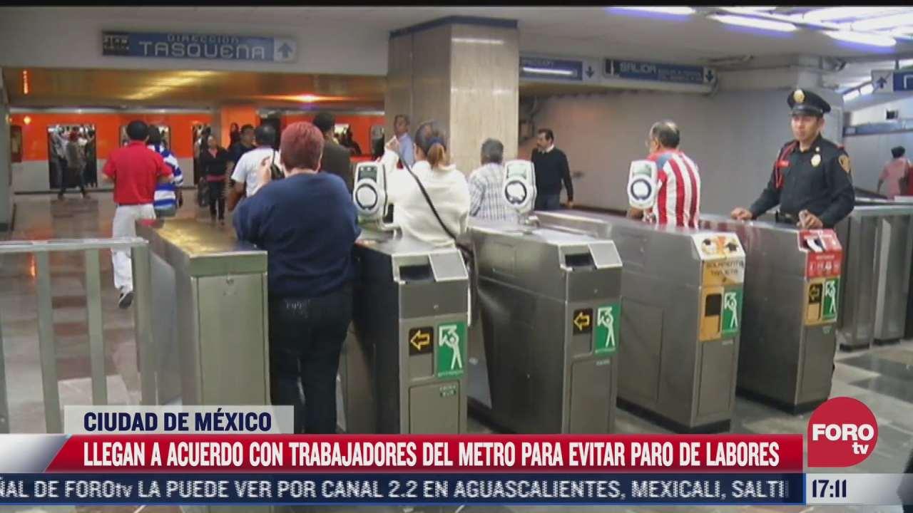 trabajadores del metro descartan paro de labores