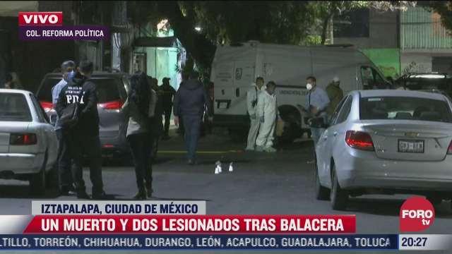 un muerto tras balacera en iztapalapa entre policias y presuntos extorsionadores
