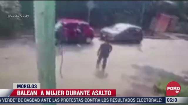 video sujetos balean a mujer durante asalto en cuernavaca morelos