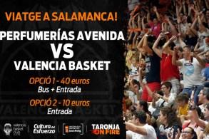 viatge amb el valencia basket a salamanca