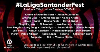 Més de mig centenar d'artistes i futbolistes participaran demà dissabte 28 de març a Laliga Santander Fest
