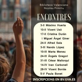 encontres escriptors biblioteca valenciana