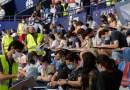 Prop de 3.000 persones prenen les graderies de l'estadi del Levante UD en l'oposició d'administratius de la Diputació de Valencia