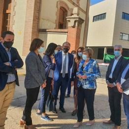 13-10-21 López en su visita al edificio oncológico del Hospital Provincial de Castelló