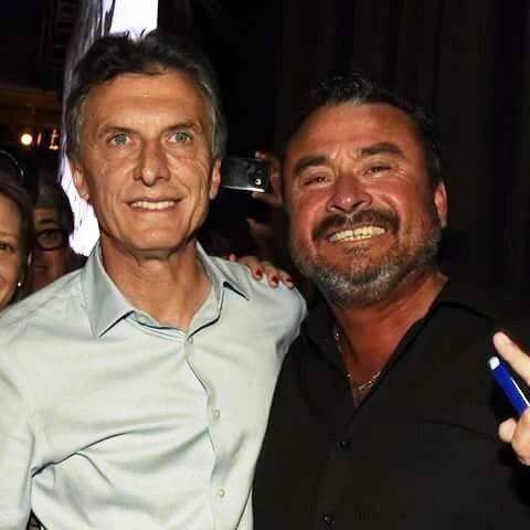 """El """"Peque"""" García junto al presidente Mauricio Macri"""