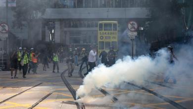 Photo of Las calles de Hong Kong se colmaron de sangre en una jornada de huelgas