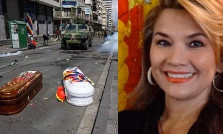 Photo of Cinismo sin límites, Jeanine Áñez se lamentó por los fallecidos en las protestas