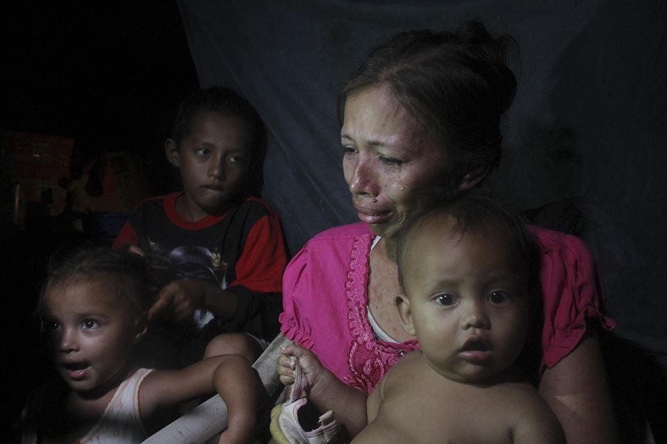 Afligida, enferma y con dificultad para mantener a sus tres hijos en Quezalguaque, León
