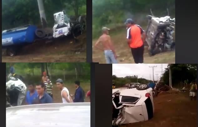 Dos muertos en accidente de tránsito cerca de empalme a Puerto Sandino