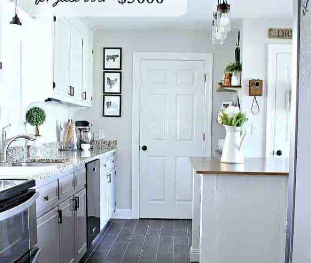 Diy Farmhouse Kitchen Remodel For Just Over  These Bloggers Are Sharing Their Secrets On