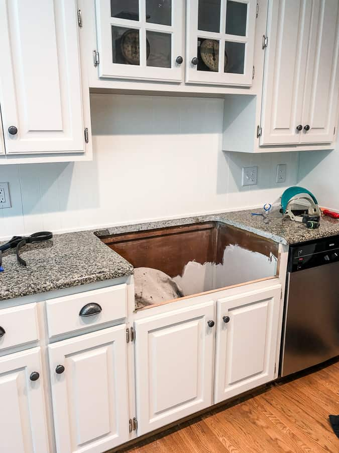 how to add an apron front sink to