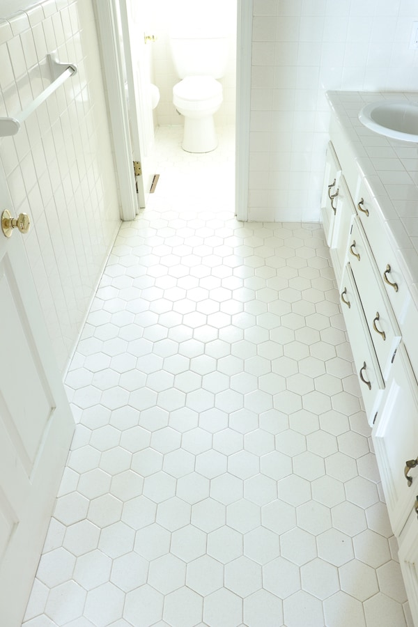 how we changed our bathroom tile for
