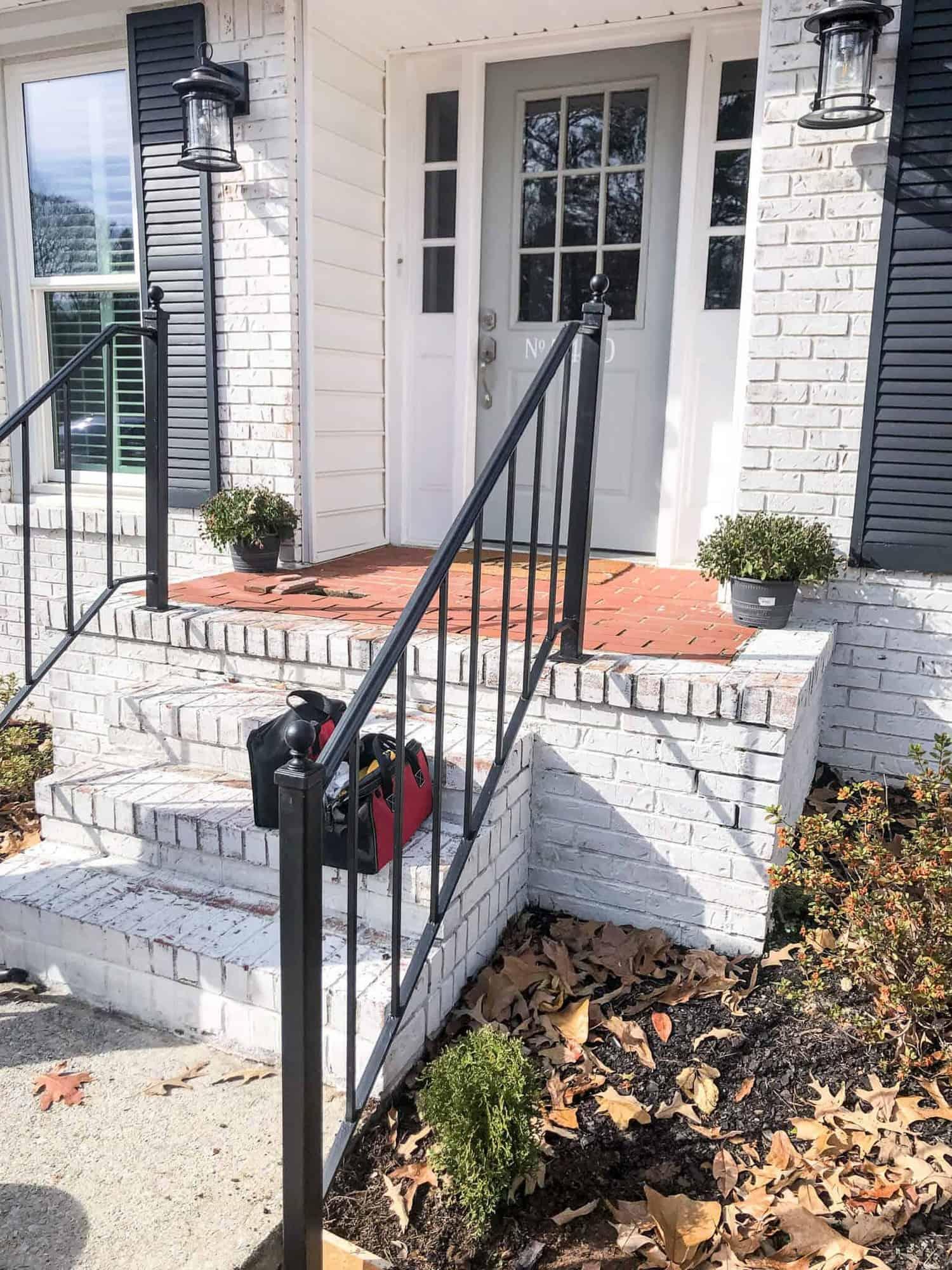repurpose exterior iron stair railings