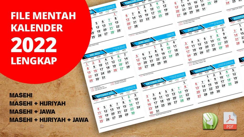 FILE KALENDER 2022 LENGKAP MASEHI HIJRIYAH JAWA CDR PDF