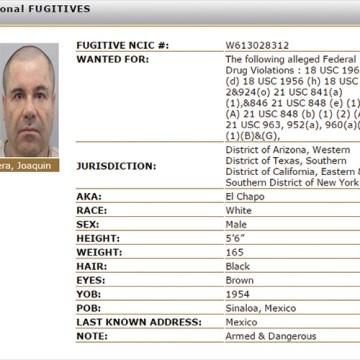 EU incluye a 'El Chapo' en lista negra y ofrece 5 mdd por su captura