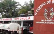 Bomberos de Tapachula al servicio de la población
