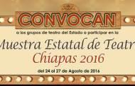 Coneculta-Chiapas convoca a la Muestra Estatal de Teatro Chiapas 2016
