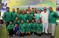 Abandera Manuel Velasco delegación Chiapas de los Juegos Nacionales Populares