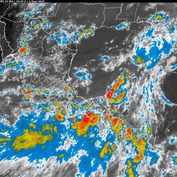 Para las próximas horas se prevén lluvias intensas en Nayarit, Guerrero, Oaxaca, Chiapas, Tabasco y el sur de Veracruz
