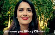 Salma Hayek alienta a latinos de EU a votar por Hillary Clinton