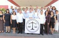 Se conforma Colegio de Jueces; Rutilio Escandón les toma protesta