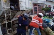 Continúan brigadas de recolección de basura activadas por el Ayuntamiento de Tuxtla