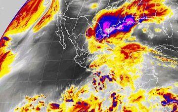 Se prevén tormentas intensas en sitios de Tamaulipas, San Luis Potosí, Hidalgo, Puebla, Veracruz y Oaxaca