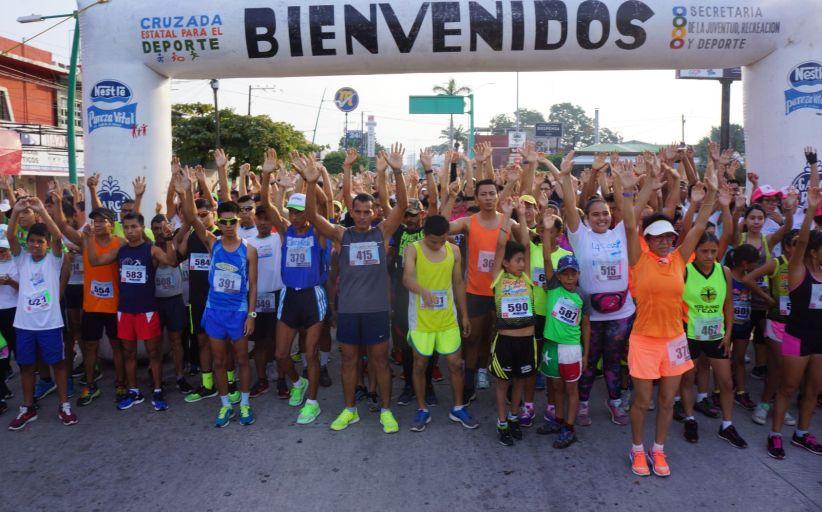 """Realizan en Tapachula """"Carrera Contra las Adicciones"""""""