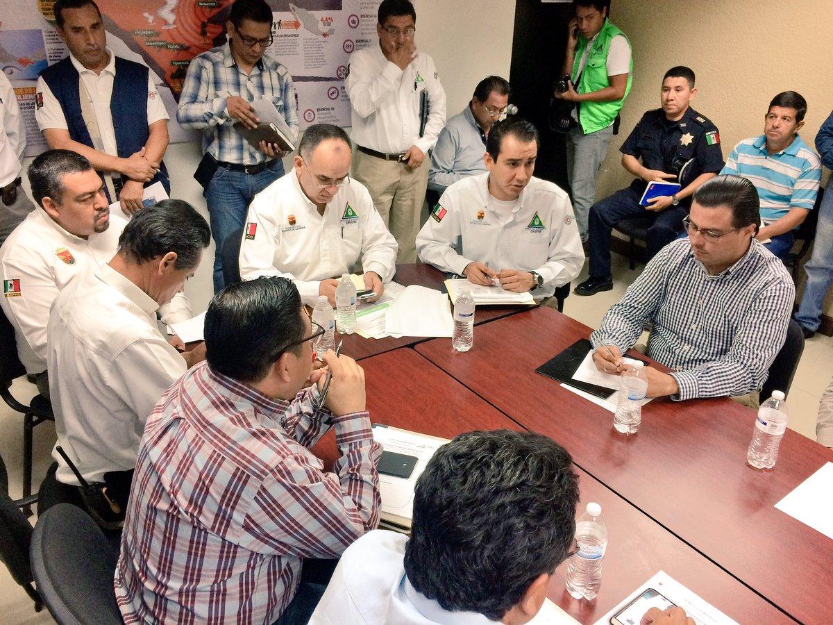 Autoridades estatales de PC activan el Comité Estatal de Emergencias por sismo de magnitud 7.0