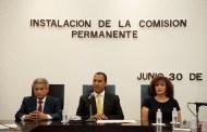 Instalan Comisión Permanente en el congreso del Estado