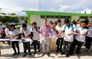 Manuel Velasco impulsa la construcción de más espacios educativos en planteles del Cobach