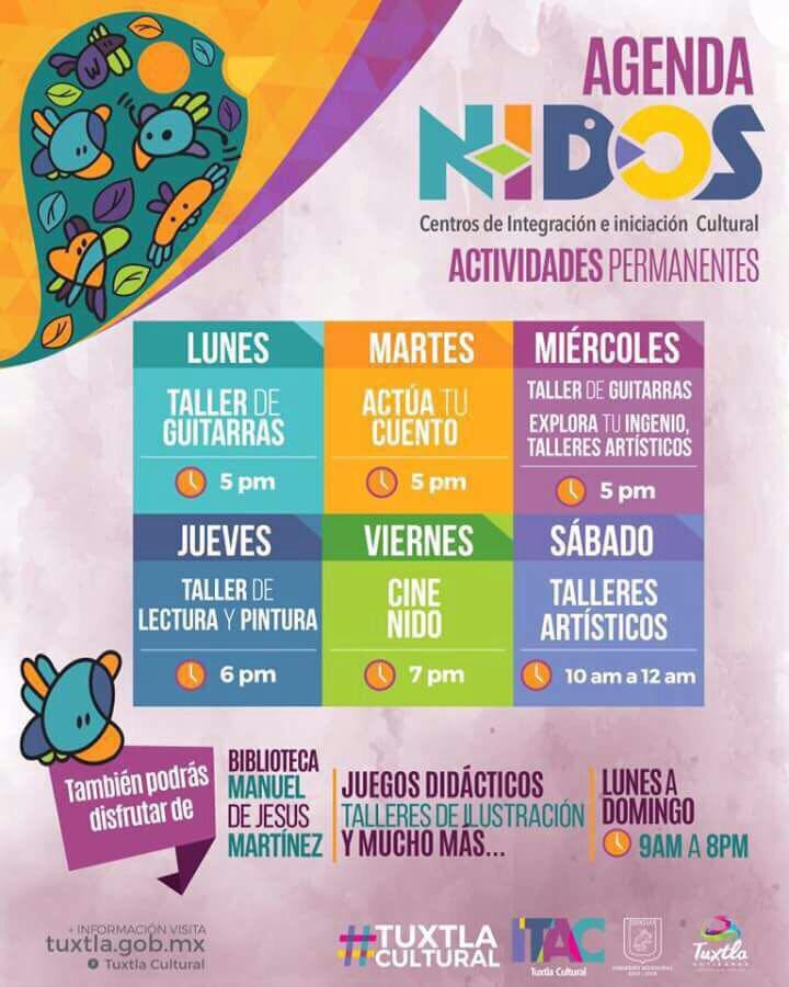 Invita Fernando Castellanos a disfrutar de la cartelera permanente de Nidos