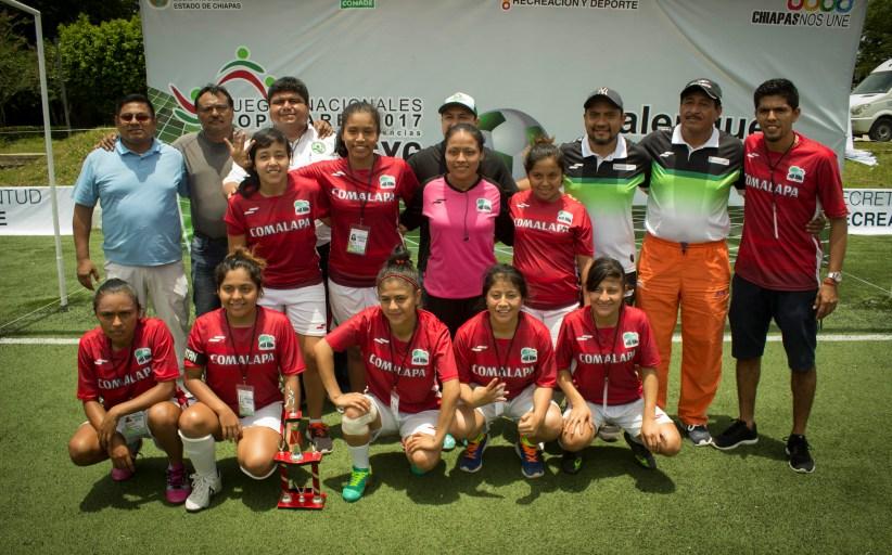 Frontera Comalapa y Palenque, campeones del Estatal de Futbol 6x6