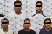 """Detiene FGE a integrantes de la """"MS 13"""" que cuentan con orden de captura por homicidio en El Salvador"""