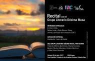 Invita Ayuntamiento de Tuxtla a El Recital de Décima Musa