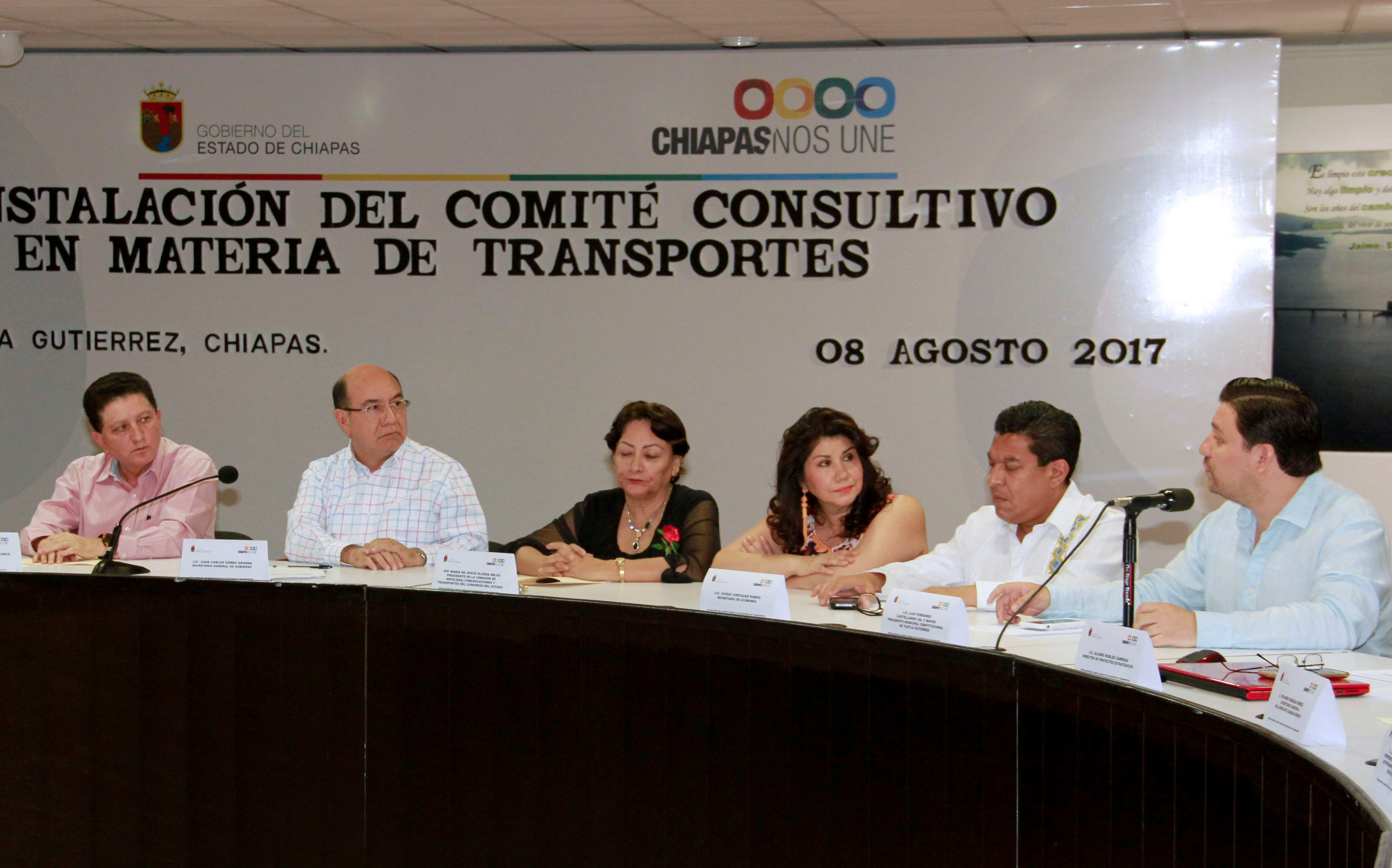 En marcha Comité Consultivo de Transporte en Chiapas