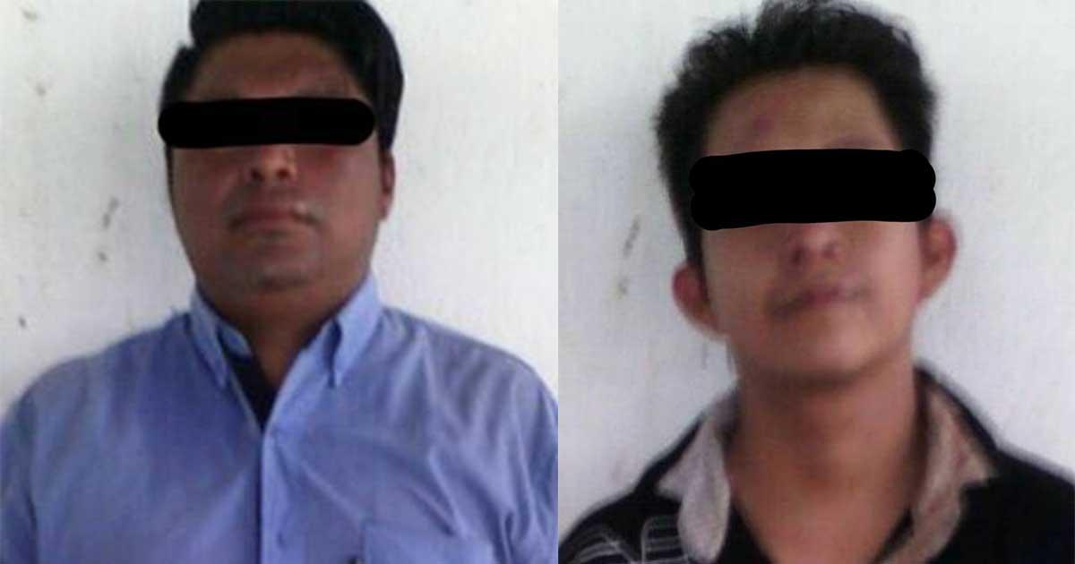 Policía Municipal asegura a dos sujetos por robo a transeúnte