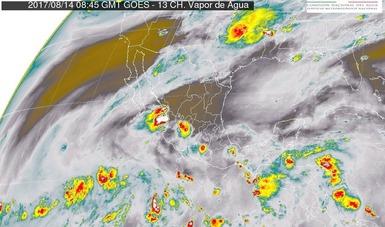 Tormentas intensas se prevén hoy en Chiapas