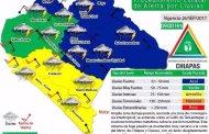 Se activa Alerta Amarilla, ante pronóstico de lluvias intensas en Chiapas