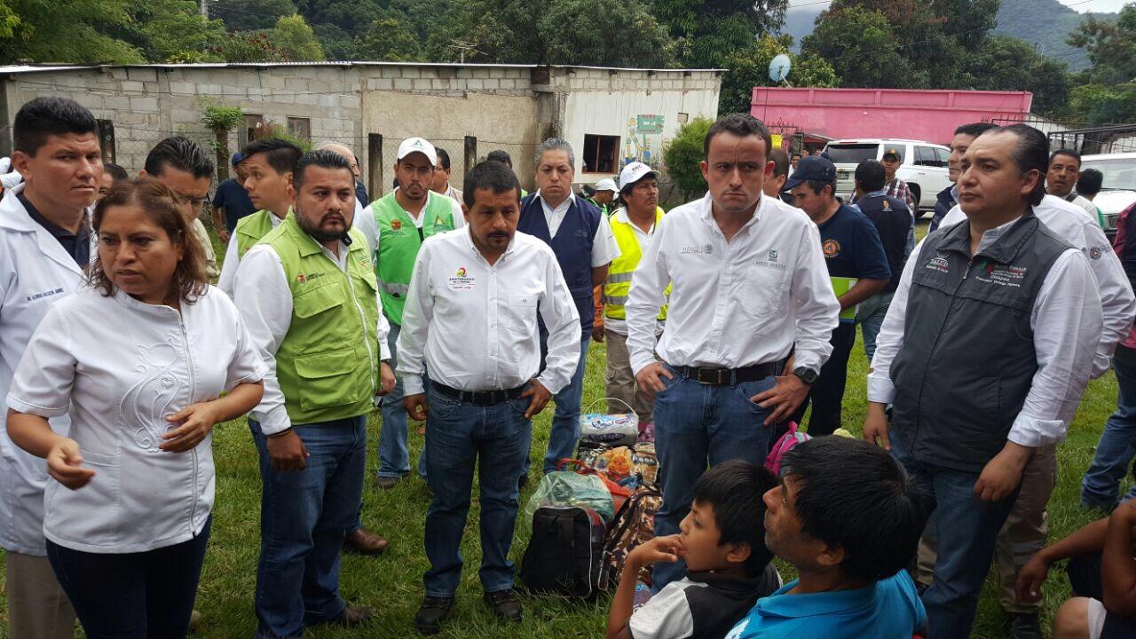 Chiapanecos afectados por el sismo tendrán todo el apoyo de la federación y el estado