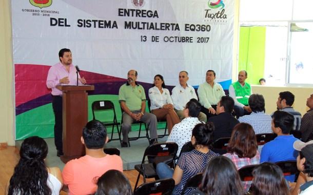 Tuxtla cuenta con siete sistemas Multi Alerta para prevención de desastres naturales