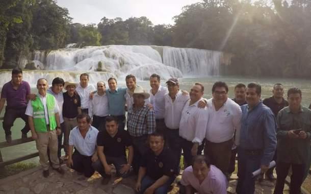 Registran las Cascadas de Agua Azul una recuperación del 100 por ciento de su flujo de agua original