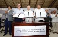 Velasco y Candiani pactan para eficientar recursos destinados a la ZEE