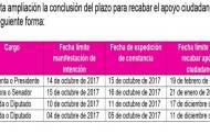 Amplía INE plazo para recabar el apoyo ciudadano por siete días