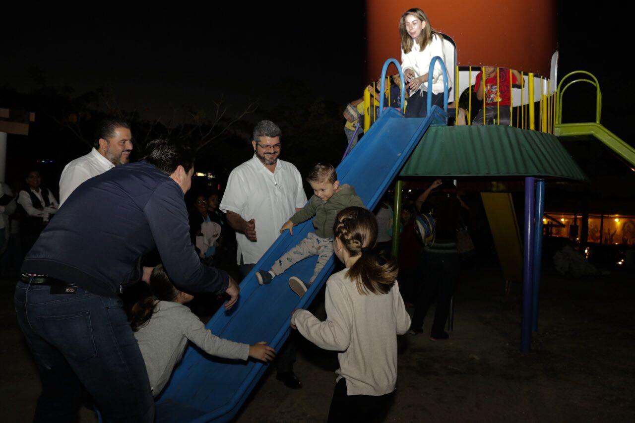 Reinaugura Fernando Castellanos el Cohete del Parque Bicentenario