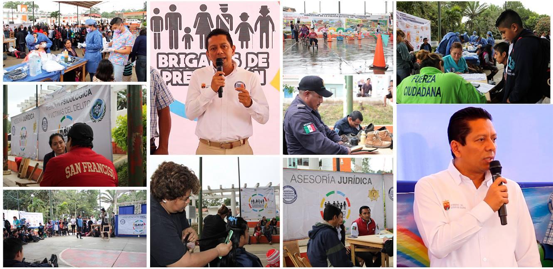 """Con la décima tercera """"Brigada de Prevención"""" beneficia SSyPC a más de 3 mil habitantes de Ocuilapa"""