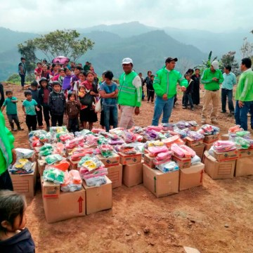 Se sigue apoyando con alimentos, abrigo y salud a familias de Chalchihuitán