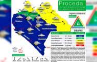 Alerta amarilla por lluvias en Chiapas